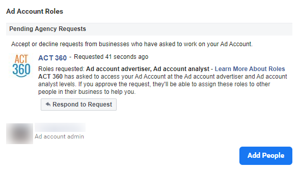 How to give Facebook Ad account access - Respond to agency request